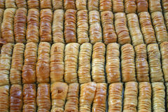 Baklava. A tracy of Baklava at a streetfair royalty free stock images