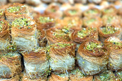 Baklava. Eastern sweet dessert closeup Royalty Free Stock Images