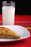 Baklava and ayran Stock Photography