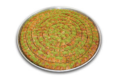Baklava with clipping path royalty free stock photo