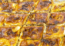 Oriental sweets. Baklava close-up. Oriental sweets stock image