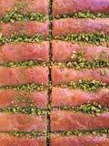 Baklava con i pistacchi Fotografie Stock Libere da Diritti