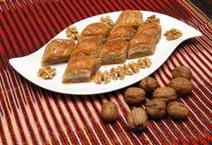 Baklava con las nueces Fotografía de archivo libre de regalías