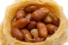Baklava con las nueces aisladas Fotografía de archivo libre de regalías