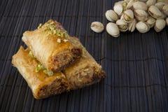 Baklava con las nueces de pistacho Imágenes de archivo libres de regalías