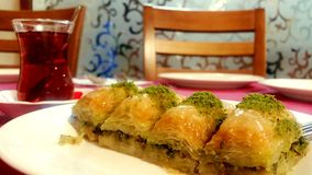 Baklava con los pistachos Fotos de archivo libres de regalías