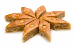 Baklava. De snoepjes van het oosten. Royalty-vrije Stock Foto's