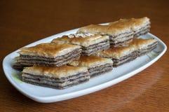 Baklava del dessert Immagini Stock