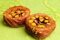 Baklava della Birmania del pistacchio immagine stock libera da diritti