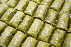 Baklava (dessert made of pastry, nuts, and honey) Stock Photos