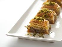 Baklava - dessert orientale con il pistacchio Fotografia Stock Libera da Diritti