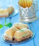 Baklava, dessert turco Fotografie Stock