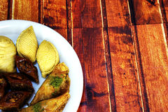 Baklava doce na placa Imagem de Stock
