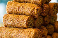 Baklava dulce turco Foto de archivo libre de regalías