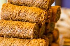 Baklava dulce turco Imágenes de archivo libres de regalías