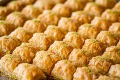 Baklava dulce turco Foto de archivo