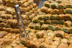 Baklava on the Eastern Market Stall Royalty Free Stock Image