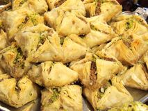 Baklava with ground pistachios Royalty Free Stock Photography