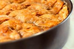 Baklava hecho en casa - pasteles dulces 04 del filo turco Foto de archivo libre de regalías