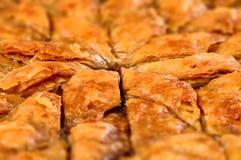 Baklava hecho en casa - pasteles dulces 03 del filo turco Fotografía de archivo