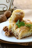 Baklava with honey and nuts Stock Photography