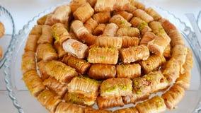 Baklava a typical dessert of lebanese cuisine. Lebanese sweets. Lebanese cuisine. Sidon, Lebanon. June, 2019 royalty free stock photos