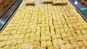 Baklava, a typical dessert. Lebanese sweets. Lebanese cuisine. Sidon, Lebanon royalty free stock photo
