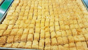 Baklava a typical Lebanese sweet Lebanese cuisine. Sidon, Lebanon stock photography