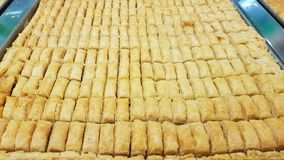 Baklava a typical Lebanese sweet. Sidon, Lebanon royalty free stock photography