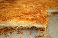 Baklava made of shredded fillo dough Stock Images