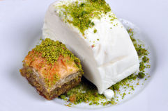 Baklava and maras ice cream Stock Photography