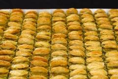 Baklava met okkernoot stock foto