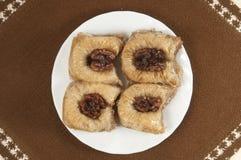 Baklava met okkernoot 'Sultan' Stock Fotografie