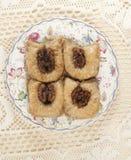 Baklava met okkernoot 'Sultan' Stock Afbeelding