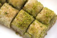 Baklava met pistache royalty-vrije stock foto