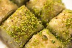 Baklava met pistache stock foto