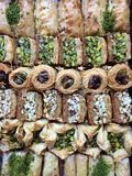 Baklava misturado Foto de Stock Royalty Free