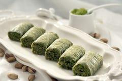 Baklava mit pistaicho Stockbild