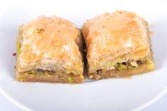 Baklava mit Pistazie lizenzfreies stockfoto