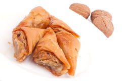 Baklava nad walnuts Stock Images