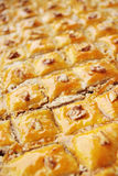 Baklava with the nuts Royalty Free Stock Photos
