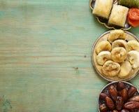 Baklava orientale dei dolci, loachum del rahat Fotografia Stock Libera da Diritti
