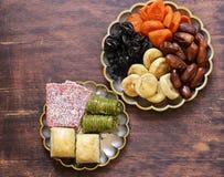 Baklava orientale dei dolci, loachum del rahat Immagini Stock
