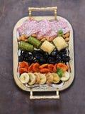 Baklava orientale dei dolci, loachum del rahat e frutti secchi Fotografie Stock Libere da Diritti