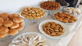 Baklava and other Lebanese sweets. Lebanese cuisine. Sidon, Lebanon. June, 2019 royalty free stock photography