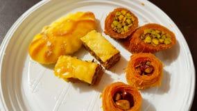 Baklava and other Lebanese sweets. Lebanon. June, 2019 royalty free stock image