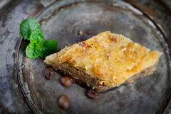 Baklava pastry dessert. Traditional turkish dessert royalty free stock photo