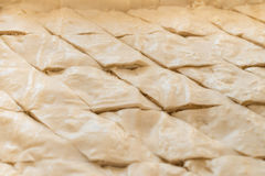 Baklava pastry ready for oven Royalty Free Stock Image