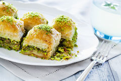 Baklava with pistachio Royalty Free Stock Photo