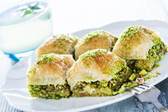 Baklava with pistachio Royalty Free Stock Photos